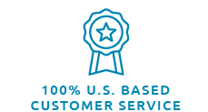 100% US-Based Customer service